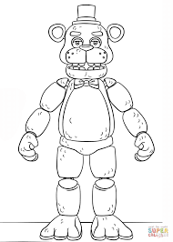 fnaf toy golden freddy coloring page free printable coloring pages