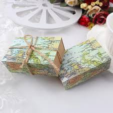 Map Wrapping Paper Novelty World Map Gift Box For Christmas Decorations Kraft Paper