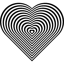 24 stripe zebra heart coloring book colouring sheet page black