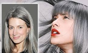 women in forties and grey hair why are today s women going grey at 25 daily mail online