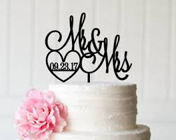 wedding cake m s custom wedding cake toppers by thepinkowldesigns on etsy