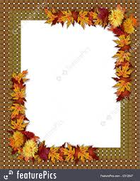 templates thanksgiving fall autumn border stock illustration