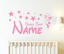 online get cheap wall name sticker minnie mouse aliexpress com minnie mouse custom name sleep tight nursery room girls wall sticker for her decal free