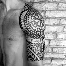 collection of 25 tribal polynesian on chest and half sleeve