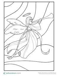 angel color pages angel coloring pages education com