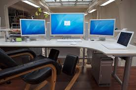 Dual Monitor Gaming Desk Multi Monitor Desk Rooms