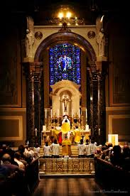 new liturgical movement first mass on trinity sunday at saints