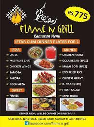 Flame And Comfort Flame U0027n U0027 Grill Home Sialkot Punjab Menu Prices