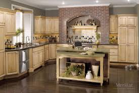 Merrilat Kitchen Cabinets Merillat Classic Somerton Hill In Maple Natural With Java Glaze