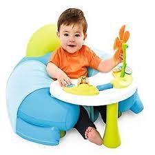 siege gonflable smoby smoby toys 7 110210 cotoons cosy seat bleu bébé puériculture eveil