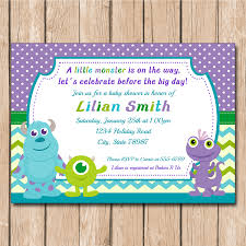 inc baby shower baby shower invitations attractive monsters inc baby shower