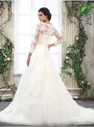 robe de mariã e manche longue dentelle robe de mariée vintage manches longues dentelle traîne chapelle