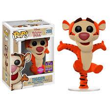 disney winnie pooh tigger bouncing flocked sdcc17 pop
