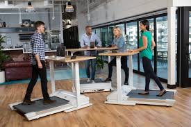Sit Stand Treadmill Desk by Work Out At Work Stand Up Desk Features Accompanying Treadmill