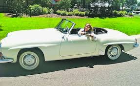 mercedes auction sheryl s mercedes 190 sl sells for record breaking amount at