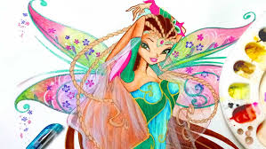draw winx club flora bloomix speedpainting