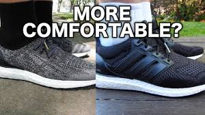 comfortable which ultra boost is more comfortable caged vs uncaged youtube