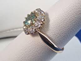 vintage estate engagement rings vintage estate 1950 s zircon engagement wedding
