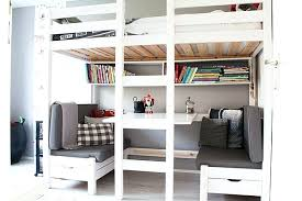 desk log furniture bunk bed plans for older kids 20 loft beds