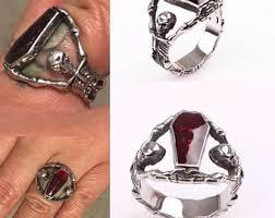 art glass skeleton ring holder images Coffin ring etsy jpg