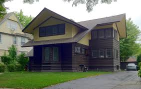 Two Story Craftsman House Frank Lloyd Wright U0027s Oak Park Illinois Designs The Prairie
