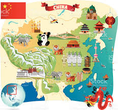 Map Of Beijing China by Cartoon Map Of China Stock Vector Art 539293709 Istock