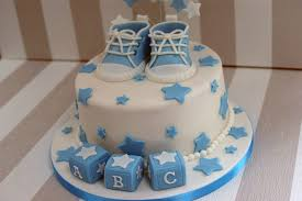 baby shower cakes boys boy s baby shower cake with cupcakes bakealous