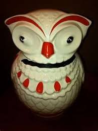 owl canisters for the kitchen sunflowers cookie jar cookie jars at sherry s antiques