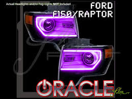 Ford Raptor Accessories - 13 14 ford raptor perimeter w pro led colorshift halo rings headlights