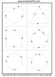 printable preschool cutting activities tracing shapes 6 worksheets free printable worksheets