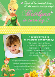 personalized tinkerbell birthday invitations tinkerbell peter pan