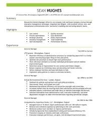 Hotel Manager Sample Resume by Download General Manager Resume Haadyaooverbayresort Com