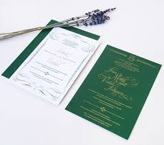 green wedding invitations new work green gold wedding invitations