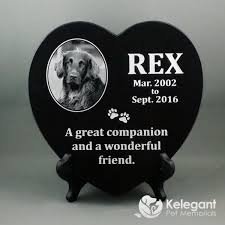 dog memorial marble heart pet memorial with photo 12 x 8mm thick make mine