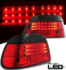 e38 euro tail lights bmw e38 7 series 1995 2001 red and smoked neon tube led tail lights