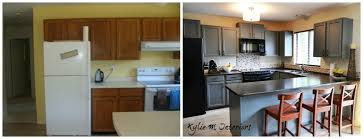 Painted Kitchen Cabinets Before And After Pictures Paint Kitchen Cabinets Before After Kitchen Crafters