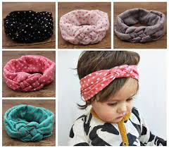 headband wrap baby polka dot crochet headbands christmas hair braided