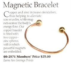 magnetic bracelet with copper images Copper bracelets with magnets questionable ad for magnetic jpg