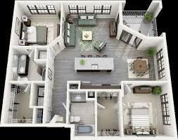 two bedroom floor plans house impressive two bedroom 3d house plans make your plan now
