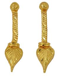 gold plated earrings gold plated necklace earring set wedding indian jewelry