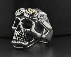 modern skeleton ring holder images Mens gold skull ring etsy jpg