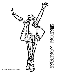 michael jackson coloring pages to download and print for free