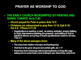prayer as worship to god ppt