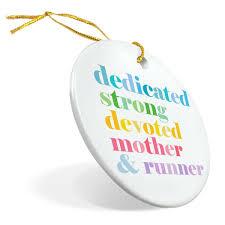 running porcelain ornament mantra mother runner gone for a run