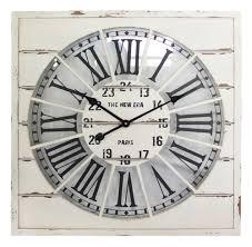 Wohnzimmer Uhren Holz Wanduhr Holz 65cm Xxl Vintage Retro Uhr Bahnhofsuhr Landhaus