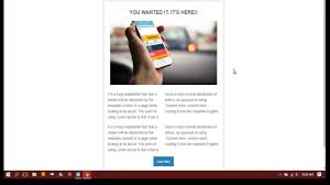 Responsive Email Template by How To Design A Responsive Email Template Youtube