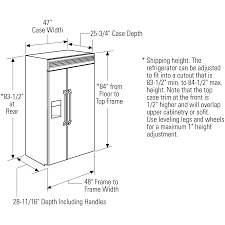 Kitchen Cabinet Standard Height Refrigerator Dimensions Dimensions Info
