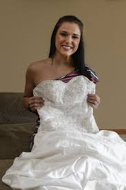 wedding dress with nebraska woman lends wedding dress to brides on a budget