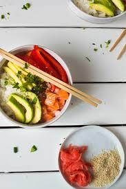 cuisine saumon bol de poke au saumon et mangue alex cuisine