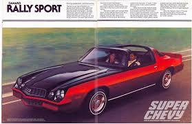 pictures of 1978 camaro vintage sales brochure 1978 chevy camaro chevy magazine
